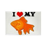 I Love my Goldfish Rectangle Magnet