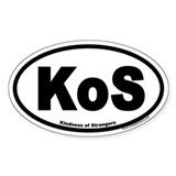 KoS Kindness of Strangers Euro Oval Decal