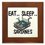 Eat ... Sleep ... SARDINES Framed Tile