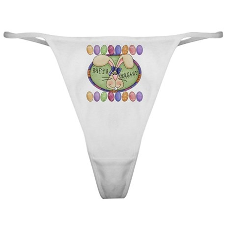 Eggs Happy Easter Classic Thong