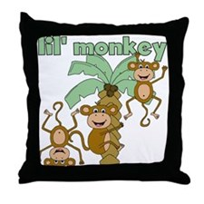 Lil Monkey Throw Pillow