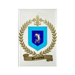 DESCHENES Family Crest Rectangle Magnet (100 pack)