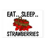 Eat ... Sleep ... STRAWBERRIES Postcards (Package
