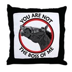 Horse Not the Boss Of Me Throw Pillow
