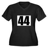 Barack Obama - 44 Women's Plus Size V-Neck Dark T-
