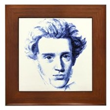 Blue Kierkegaard Framed Tile