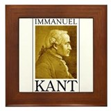 Immanuel Kant Framed Tile