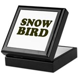 Snow Bird Keepsake Box