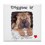 SWEET DOG LOOK  Tile Coaster