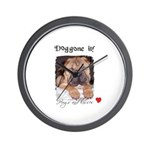 SWEET DOG LOOK  Wall Clock