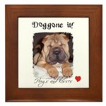 SWEET DOG LOOK  Framed Tile