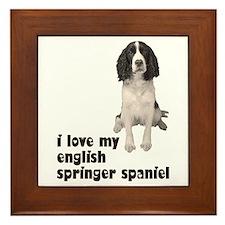 I Love My Springer Spaniel Framed Tile
