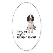 I Love My Springer Spaniel Oval Sticker