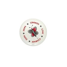 Hope Courage 1 Butterfly 2 PD Mini Button (10 pack