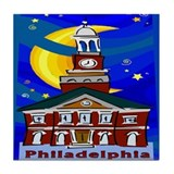 Starry Night Philadelphia Tile Coaster