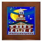 Starry Night Philadelphia Framed Tile