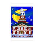 Starry Night Philadelphia Rectangle Sticker