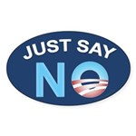 Just say NO Oval Sticker