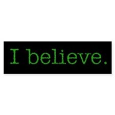 """I Believe"" Alien Bumper Bumper Sticker"