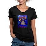 Starry Night Philadelphia Women's V-Neck Dark T-Sh