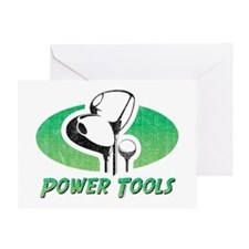 Golf Power Tools Greeting Card