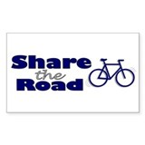 Share the Road Rectangle Sticker 50 pk)