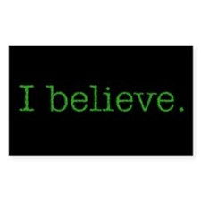I Believe (Alien) Rectangle Decal
