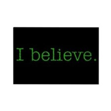 I Believe (Alien) Rectangle Magnet