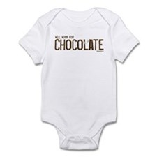 Will work for Chocolate Infant Bodysuit