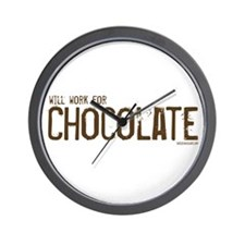Will work for Chocolate Wall Clock