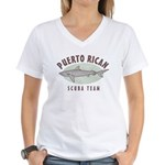 Puerto Rican Scuba Team Women's V-Neck T-Shirt
