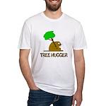 Beaver Tree Hugger Fitted T-Shirt