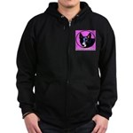 German Shepherds Zip Hoodie (dark)