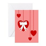 Retro Heart Dangle Greeting Cards (Pk of 10)