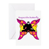 butterfly big Greeting Cards (Pk of 20)