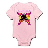 butterfly big Onesie