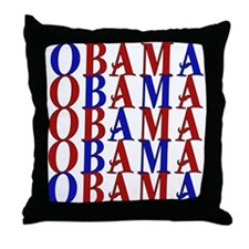 ObamaObamaObama Throw Pillow