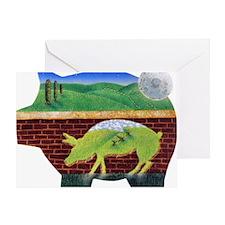 This Little Pig Used Bricks Greeting Card