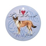 Norwegian Lundehund Ornament (Round)