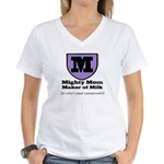 Mighty Mom Women's V-Neck T-Shirt