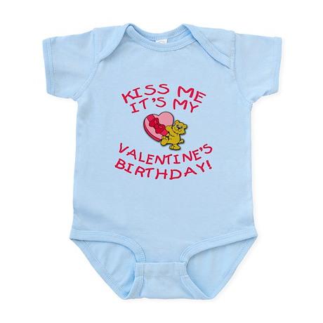Valentine's Day Birthday Teddy Bear Infant Bodysui