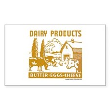 Dairy Products Rectangle Decal