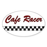 Cafe Racer Oval Stickers