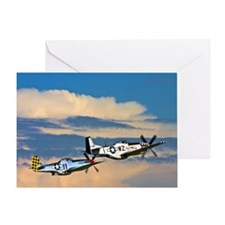 P-51's into battle Greeting Card