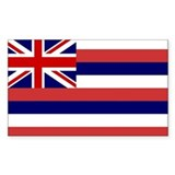 Hawaii Flag Rectangle Decal
