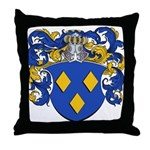 Schryver Family Crest Throw Pillow