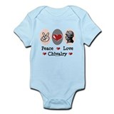 Peace Love Chivalry Renaissance Infant Bodysuit