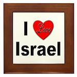 I Love Israel Framed Tile