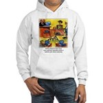 Writing Naked Hooded Sweatshirt