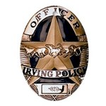 Irving Police Oval Ornament